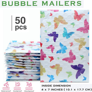 Small Bubble Mailing Bags Seal Mailer Padded Cosmetic Makeup Shipping Envelopes
