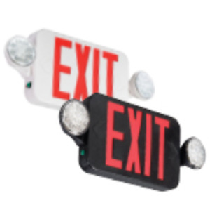 Emergi lite Elxn400r White Red Letter Exit Sign Emergency Fixture New 1312708