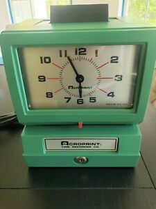Acroprint New Old Stock Time Recorder Time Clock 125qr4