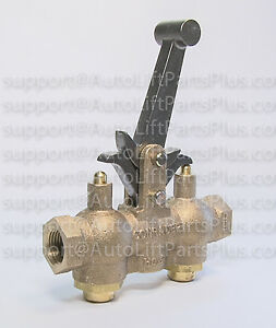 Non locking Air Control Valve For In ground Single Post Lifts Made In Usa