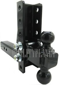 Adjustable 8 Drop Dual Ball Mount Hitch 2 Or 2 5 16 Gtw 14k 2 5 Shank