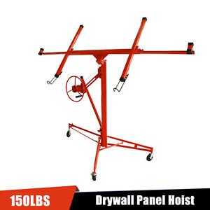 11ft Drywall Rolling And Panel Hoist Sheetrock Plasterboard Jack Lifter Tool