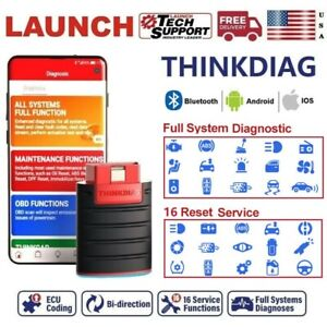 Launch Thinkdiag Obd2 Car Scanner Bluetooth Bidirectional Ecu Coding Scan Tool