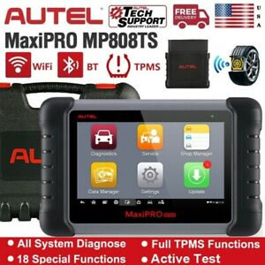 Autel Mp808ts Bluetooth Obd2 Diagnostic Scan Tool Tpms Programming Key Coding Us