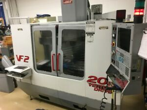 Used Haas Vf 2 Cnc Vertical Machining Center Mill 30x16 Vmc 20 Atc 20hp Ct 2001
