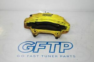 18 20 Subaru Wrx Sti Oem Lh Left Drivers Front Yellow Brembo Brake Caliper Stock