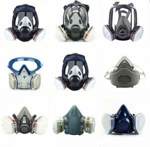 Full half Face Gas Mask Respirator Set For Painting Spraying Safety Facepiece Us
