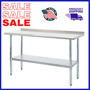Work Prep Commercial Table Stainless Steel 18 Gauge Nsf Heavy Duty 24 X 60