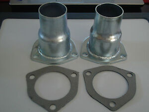Exhaust Header Collector And Gasket Set 2 1 2 Sbc Bbc Ford Hot Rod 9382 3806