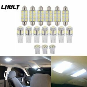 For 2004 2012 Ford F150 White Led Dome License Lights Interior Package Kit 16pcs