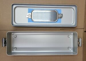 Case Medical Steritite Narrow Sterilization Container With Lid 18 5x6 X3 Sc03n