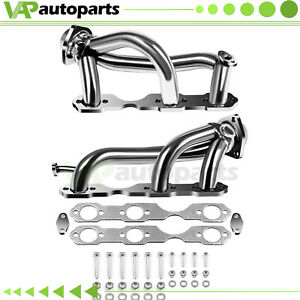 Stainless Exhaust Header Manifold For 96 01 Chevy S10 Blazer Jimmy 4 3l 262 4wd