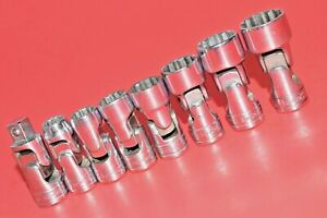 Snap On 3 8 Drive Universal Swivel Flex Standard 8 Piece Shallow Socket Set