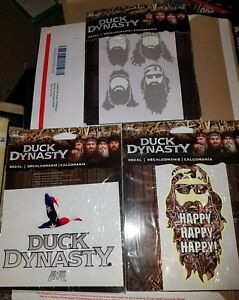 A e Duck Dynasty Sticker Decals set Of Three New In Package