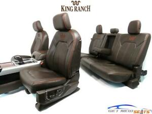 Ford F 150 F150 King Ranch Leather Front Rear Seats Console Crew Cab 2015 2020