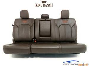 Ford F 150 F150 King Ranch Brown Leather Rear Seats Crew Cab 2015 2020