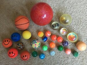 Lot 32 Superballs Super Balls Bouncy Gumball Gum Large And Small Dora Car Toy