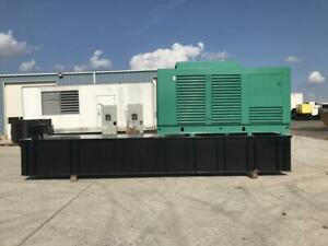 _250 Kw Cummins Onan Generator Set Year 1995 Base Fuel Tank 12 Lead