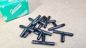 Box Of 10 Auveco 10110 Barbed Vacuum Hose Tee Connector 1 4 X 1 4 X 1 4 Id
