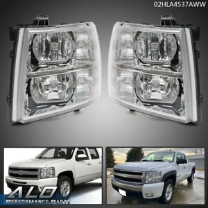 For 07 13 Chevy Silverado 1500 2500 3500 Clear Corner Headlights Replacement