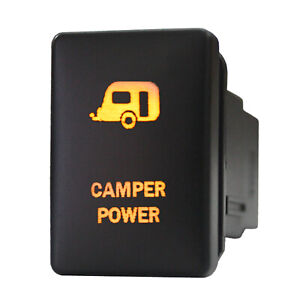 12v Push Switch 965o Camper Power For Toyota Tacoma Tundra Led Amber On Off 3a