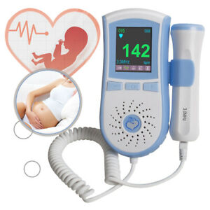 Lcd Pocket Fetal Doppler 3mhz Probe Baby Heart Monitor Dual Interface Displayce