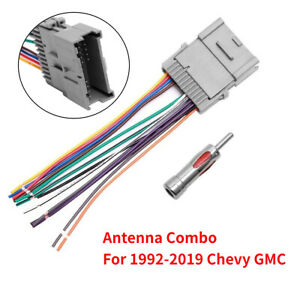 For Gmc Chevy Buick Pontiac Car Stereo Radio Wiring Harness Antenna Adapter New