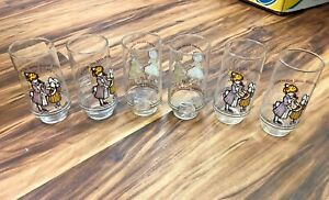 6x Vintage Holly Hobbie Coca Cola Drinking Glass Love Happiness Friends Do Coke