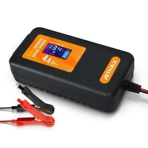 Jethax Smart Car Battery Charger Fully Automatic 3in1 Portable Battery 12v 4a