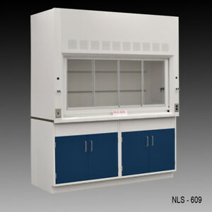 6 Fisher American Chemical Fume Hood W General Storage Valves E2 050