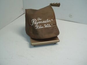 Vintage Paymaster Ribbon Writer Series 8000 Check Writer With Key Dust Cover