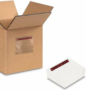 100 Packing List Envelopes Invoice Enclosed Slip Pouch Self Adhesive Any Size