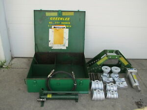 Greenlee 777 Hydraulic 1 1 4 4 Imc Rigid Pipe Bender W Hand Pump Used