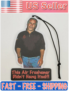 Jeffrey Epstein Car Truck Auto Air Freshener Double Sided Black Ice Scent Larger