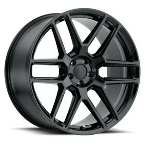 Mandrus Otto Rims Wheels For Mercedes 17x8 5x112 Gloss Black Qty4