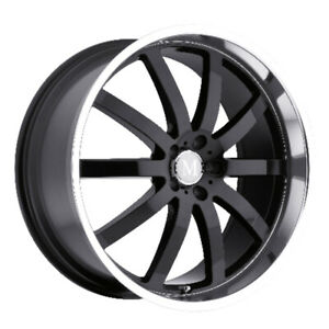 Mandrus Wilhelm Rimswheels For Mercedes 17x8 5x112 Gloss Black Mirror Lip Qty4