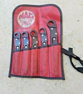 Mac Tools Rt122 Rt162 Rt142 Rt182 Rt202 Ratcheting Nut Flip Open Wrench Set 5pcs