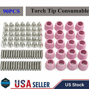 90 Pcs Tips Consumables For Lotos Plasma Cutter Ltp5000d Ltp6000 Ltpdc2000d Usa