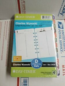 Day timer Charles Wysocki 2020 Daily Monthly Planner 8 5x5 5 Refill 4