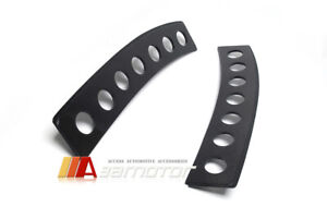 Carbon Fiber Rear Window Vents Trim Visor Set Fits Mitsubishi Evolution X Evo 10