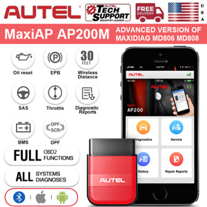 2020 New Autel Maxiap Ap200m Obd2 Car Scanner Bluetooth Diagnostic Code Reader