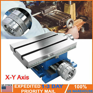 Compound Milling Machine X y Axis Cross Slide Bench Table Drill Vise Fixture New