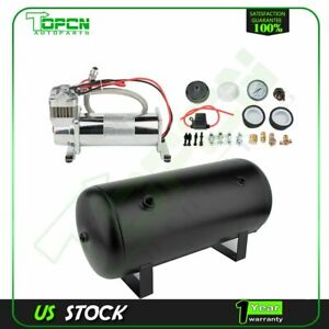 5 Gal Air Tank And 200 Psi Compressor For Train Horn Car System Kit 12v