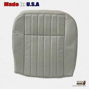 1995 1996 1997 Chevy Impala Ss Driver Bottom Perforated Leather Seat Cover Gray