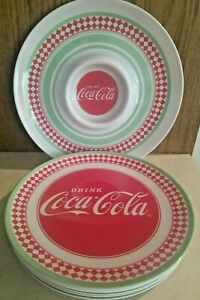 Coca-Cola Gibson Plates -(7) Vintage Style-  Brand New- Dishwasher Safe