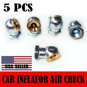 5 Pack Chrome Plated Air Chucks Tire Inflator 1 4 In Npt Female New