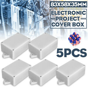 5x Plastic Waterproof Electronic Project Enclosure Cover Box Case Kit 83x58x35mm