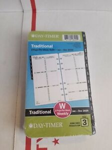 Day timer 2020 Refill Size 3 Traditional Weekly monthly Planner 3 75 x6 75