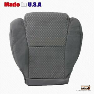 Fits 2007 To 2012 Toyota Tundra Driver Bottom Cloth Replacement Seat Cover Gray