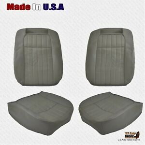 Driver And Passenger Vinyl Perforated Seat Cover For 1994 1996 Chevy Impala Ss